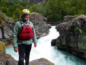 Standing below Zeta Rapid on the Futaleufú River in December 2014, my first time back in 30 years